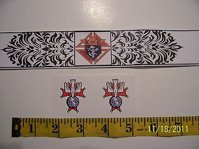 """KNIGHTS OF COLUMBUS - 4th Degree Round STICKER 1.5"""" Count 2"""