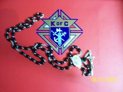 KNIGHTS OF COLUMBUS Rosary- Black 18 inches