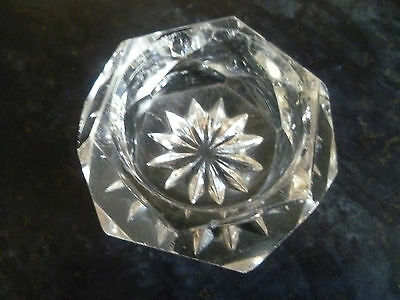 A Lovely Cut Glass Crystal Pin Dish Or Trinket Dish, Unnamed Make.