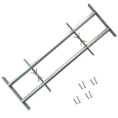 Adjustable Window Security Grilles Bars Shed Office with 2 Crossbars 700-1050 mm