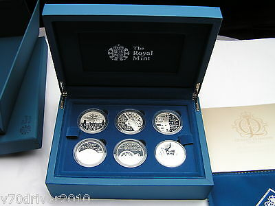 2012 Royal Duties Silver Coin Set Queen's Diamond Jubilee The Royal Mint Ltd Ed