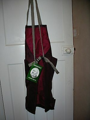 Gardening Apron, one size, 100% polyester, unused, fun present **Reduced**
