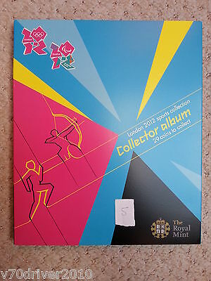 2012 London Olympic 50p Collectors LARGE Album Folder Completer Medallion L5