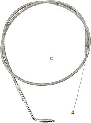 LA Choppers LA-8005TH13 Throttle Cable Stainless 12-14in. Ape Hangers