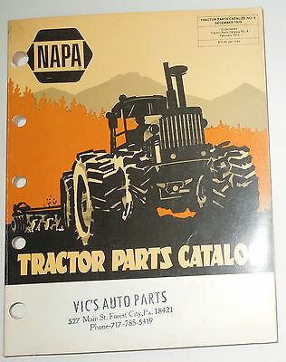 1979 Napa Tractor Parts Catalog Vic's Auto Parts Forest City, Pa.