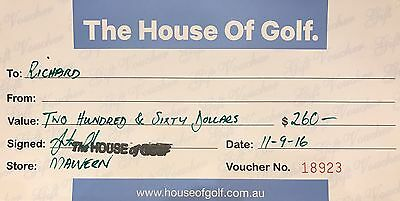 The House Of Golf $260 Voucher
