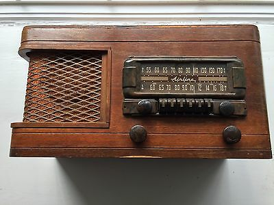 Antique Ward's Airline Tube  Radio Wood Case Model 64Br 1208A Year (1946)