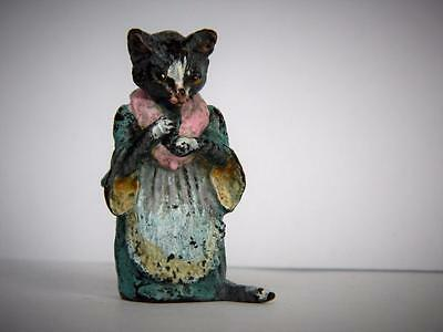 Franz Bergman Stamped Cold Painted Vienna Bronze Beatrix Potter Tabitha Twitchit