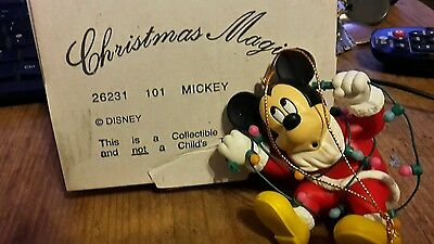 Disney Grolier Mickey Mouse In Box Christmas Decoration Ornament