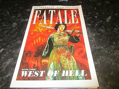 image paperback graphic novel fatale book three 3 west of hell  ed brubaker
