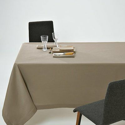 La Redoute tablecloth 150 cm square taupe polyester new rrp £15