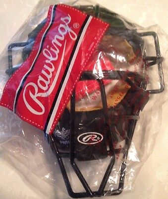 Rawlings PWMXY High Visibility Catchers or Umpire Mask - Solid Wire Umpire Mask