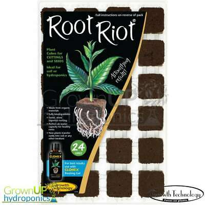 Root Riot Propagation Plugs - 24 Tray, 50 or 100 Refill Bag - Natural or Rockwoo