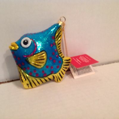 Kurt Adler Polanaise   FISH Tree Ornament MINT WITH TAGS