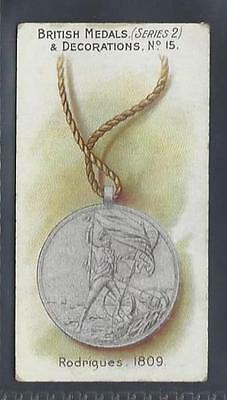 Taddy - British Medals & Decorations (Blue Back) - #15 Rodrigues, 1809