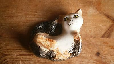"""Tey Pottery Norfolk Carol's Cats - Cute Pose Of Laying Cat 5"""" Long, 4"""" Wide"""