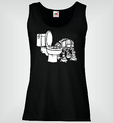 Mujer Chaleco Slim - At-At Toilet Naughty Puppy Star Wars - Ladies Summer Vest