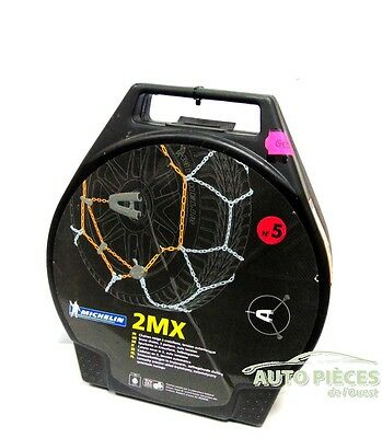 "Chaines Neige 2 Chaine A Neige Michelin 2Mx N°5 13"" 14"" 15"" Trx"