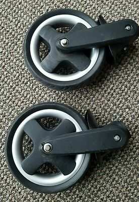 Babystyle Oyster 1 Spare Replacement Set Of 2 Solid Front Wheels