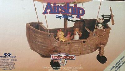 RARE WORLDS OF WONDER Teddy Ruxpin AIRSHIP Toy Model COMPLETE In BOX With INSERT