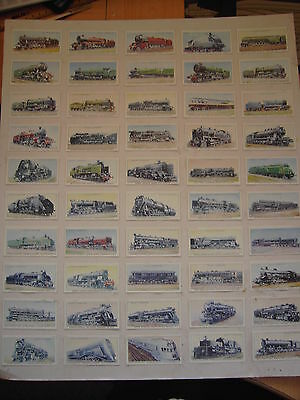 "Wills Cigarette Cards ""railway Engines"" Complete Set (See Discription )"