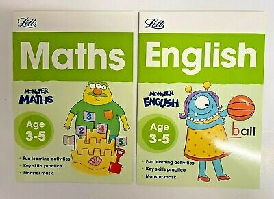 New Letts Educational PreSchool Workbook Pack of 5 Books Ages 3-5 Reception Year