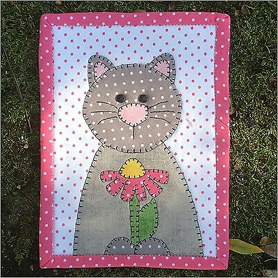 DAISY CAT MUG RUG QUILTING PATTERN, from Stitches of Love Quilting, *NEW*