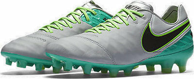 Nike Tiempo Legend FG Soccer Cleat (Wolf Grey, Jade) 819177-005