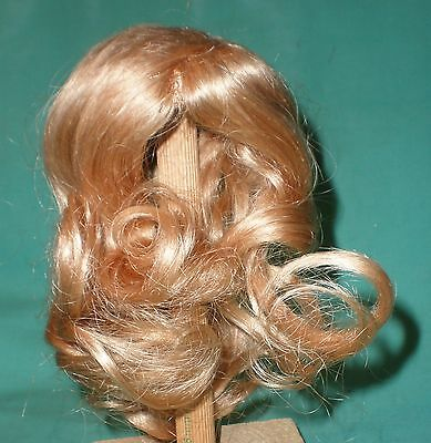 "doll wig/ human hair 9"" to 10""  blond, long hair"