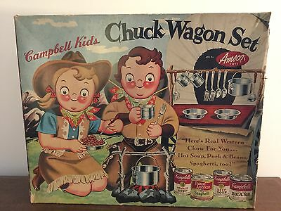 Campbell Kids Chuck Wagon Set 1955 Amsco Toys Campbell's Soup Rare