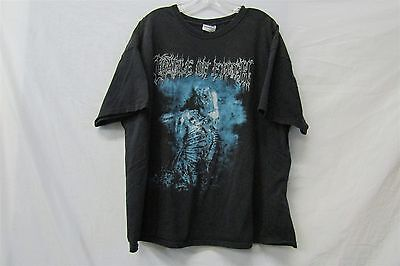 CRADLE OF FILTH t-Shirt Size 2XL Painted Flowers White Never Suited My Palette
