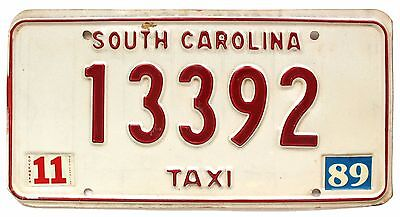 Vintage Tennessee 1989 TAXI CAB License Plate 13392