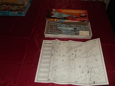 1.72 Scale Heller Humbrol French AMD Mirage 2000 Model Kit