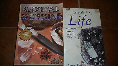 Crystal Medicine and Crystals for life Crystal Books x 2