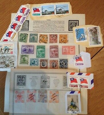 Collection of Vintage Stamps - China
