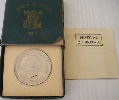 Uncirculated George Vi 1951 Crown With Coa