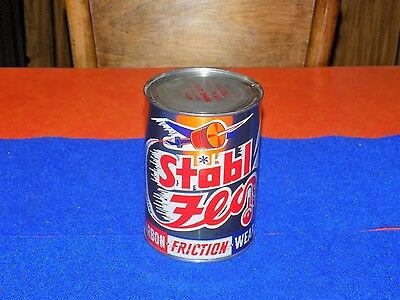 Vintage, STABL FLO, graphical metal, 1qt oil can