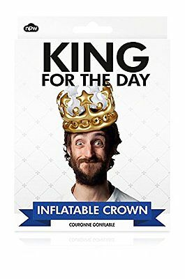 Novelty Mens King for the Day Inflatable Crown Birthday Gift/ Accessory