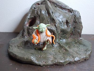 Vintage Star Wars Yoda Orange Snake Figure 1980
