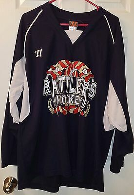 Excellent Men's RATTLERS Hockey Jersey Size Large by Warrior Team Apparel #10