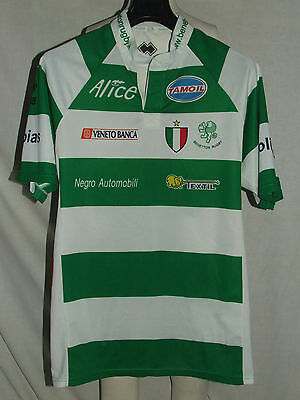 MAGLIA SHIRT TRIKOT MAILLOT RUGBY SPORT BENETTON TREVISO n°10