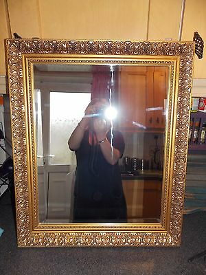 Vintage Rectangle gold mirror bevel edge by gallery 51x61cm