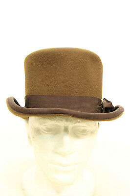 Victorian Style Brown Top Hat