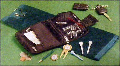 Brand New Velour Golf Towel And Wallet Accessory Set - Great Golf Gift!