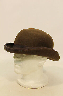Victorian Style Brown Bowler Hat