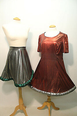 1 Red Space Dress & 1 Silver Space Skirt