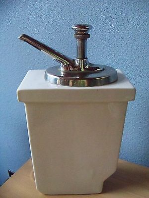 217 Vintage Art Deco Abingdon Nelson Fountain Cherry Syrup Dispenser with Pump