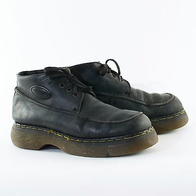 True Vintage 90's Dr Martens Laced Black Leather Chunky Shoes UK 9 EU 43 US 10