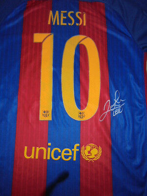 Messi Signed Barcelona  Football Shirt With
