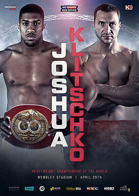ANTHONY JOSHUA vs WLADIMIR KLITSCHKO Tickets *Pair Seated Together* ~ Apr 29th